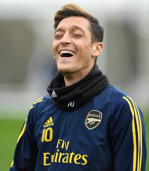 Image result for ozil laughing 2019""