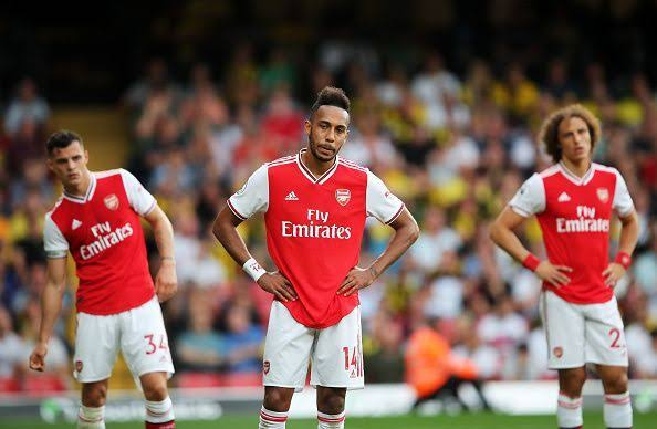 Image result for aubameyang and lacazette sad""