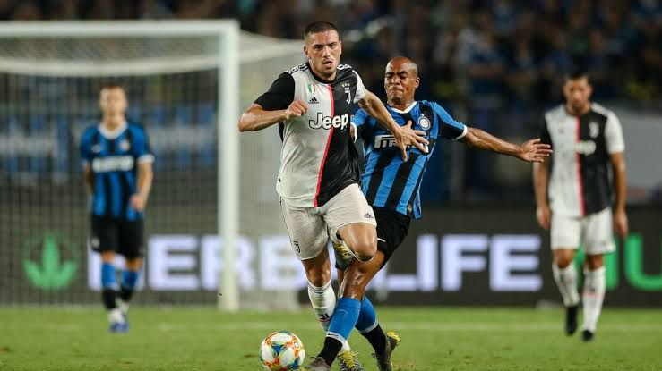 Demiral in action vs inter Milan